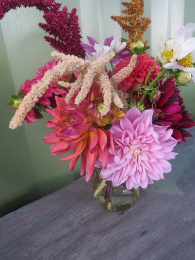 small arrangement side view
