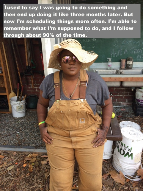 Intern E'nera at the WOW Produce Farm